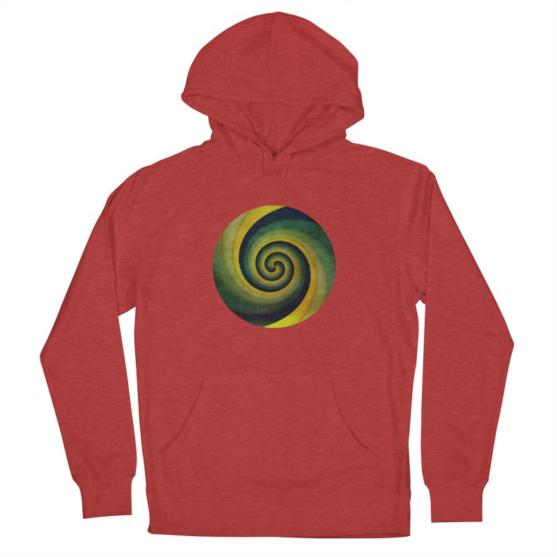 Green Swirl Women's French Terry Pullover Hoody by fruityshapes's Shop