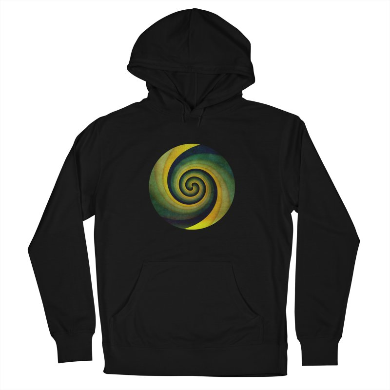 Green Swirl Men's French Terry Pullover Hoody by fruityshapes's Shop