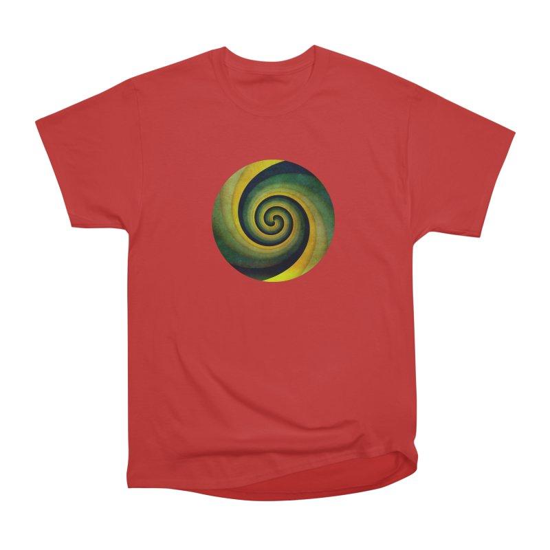 Green Swirl Women's Heavyweight Unisex T-Shirt by fruityshapes's Shop