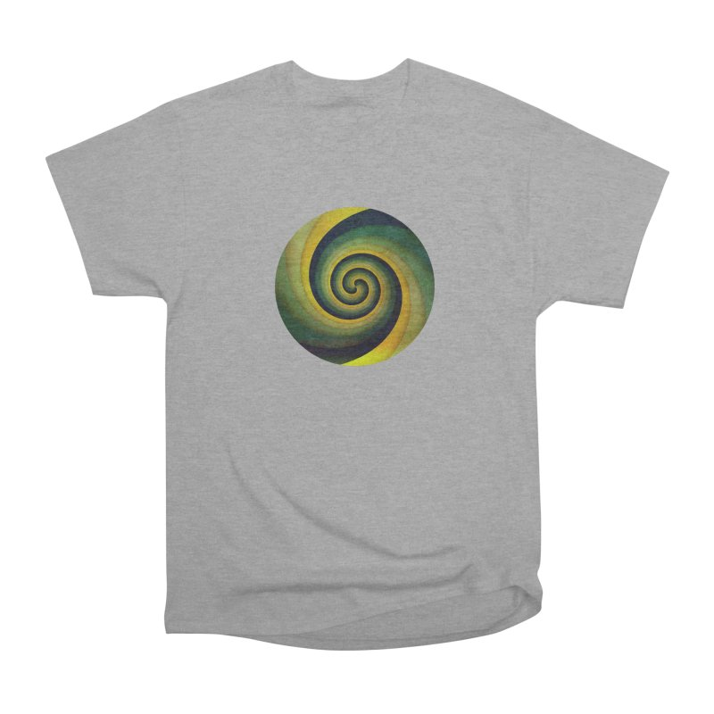 Green Swirl Women's Heavyweight Unisex T-Shirt by fruityshapes's Shop