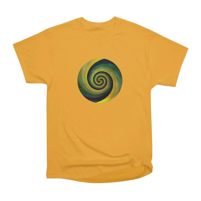 Green Swirl Men's Heavyweight T-Shirt by fruityshapes's Shop