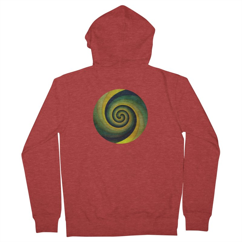 Green Swirl Men's French Terry Zip-Up Hoody by fruityshapes's Shop