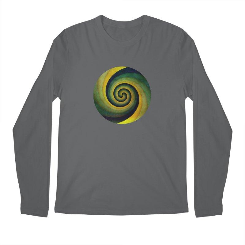 Green Swirl Men's Regular Longsleeve T-Shirt by fruityshapes's Shop