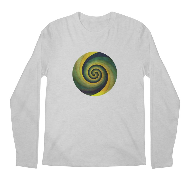 Green Swirl Men's Regular Longsleeve T-Shirt by fruityshapes's Shop