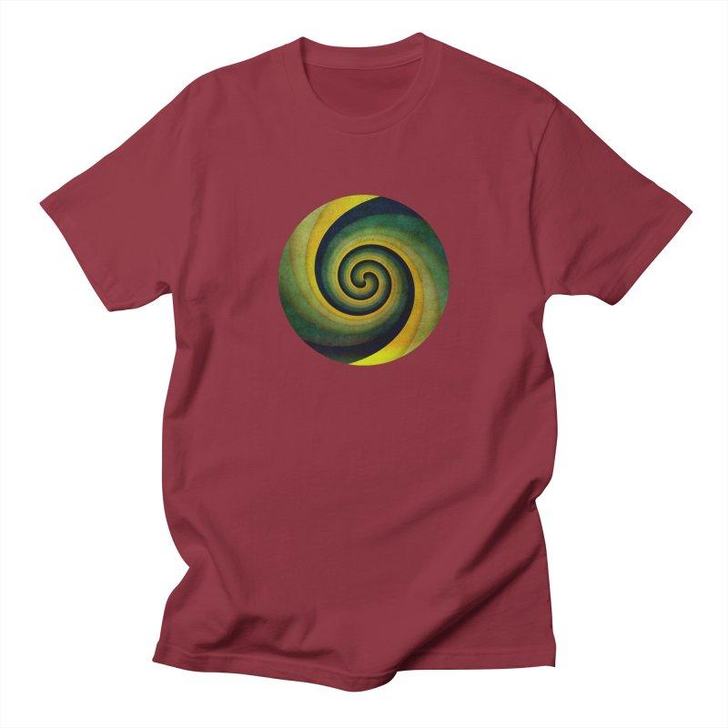 Green Swirl Men's Regular T-Shirt by fruityshapes's Shop