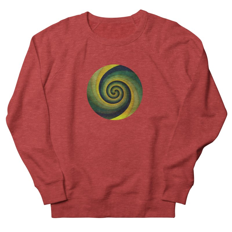Green Swirl Men's French Terry Sweatshirt by fruityshapes's Shop