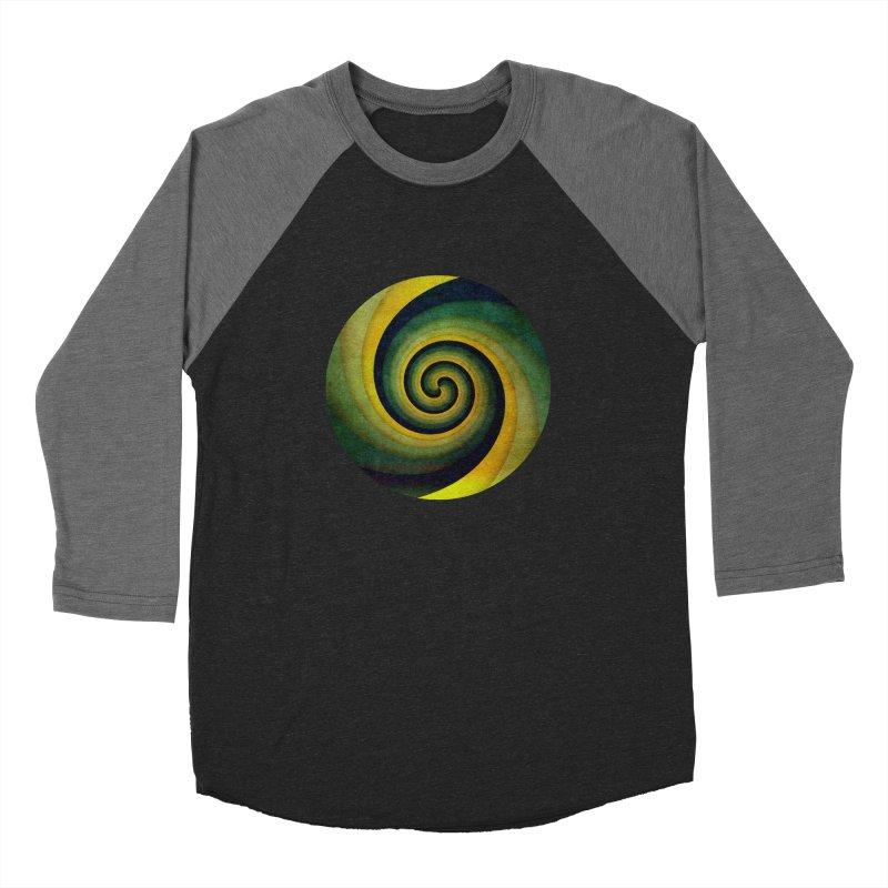 Green Swirl Women's Baseball Triblend Longsleeve T-Shirt by fruityshapes's Shop
