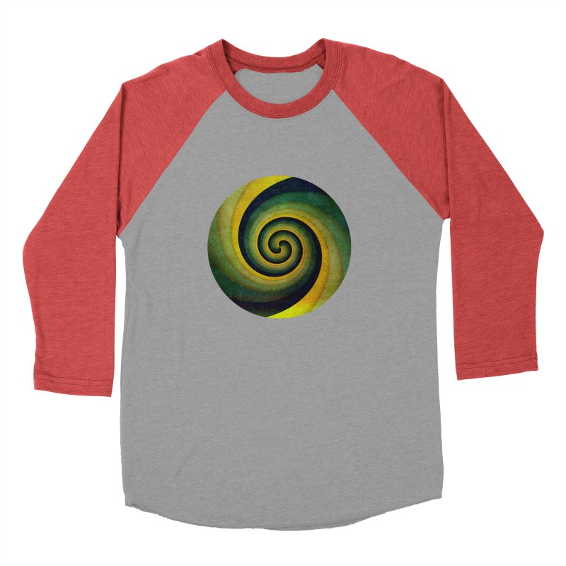 Green Swirl Men's Baseball Triblend Longsleeve T-Shirt by fruityshapes's Shop