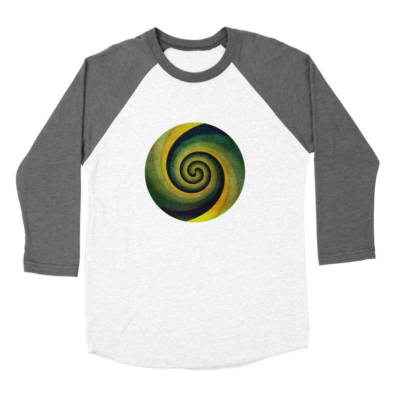Green Swirl Men's Baseball Triblend T-Shirt by fruityshapes's Shop