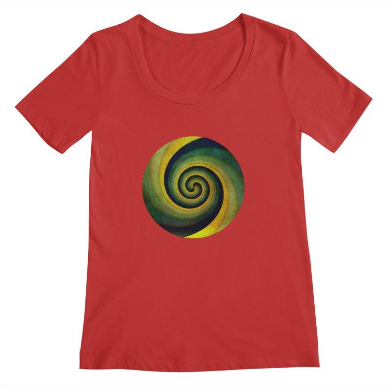 Green Swirl Women's Regular Scoop Neck by fruityshapes's Shop
