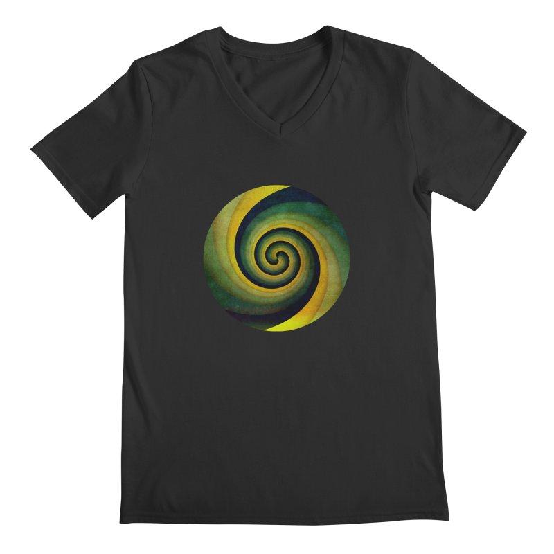 Green Swirl Men's Regular V-Neck by fruityshapes's Shop