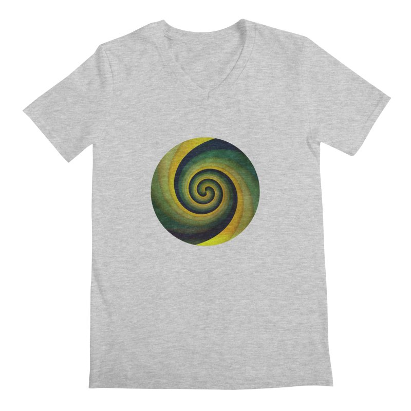 Green Swirl Men's Regular V-Neck by fruityshapes's Shop