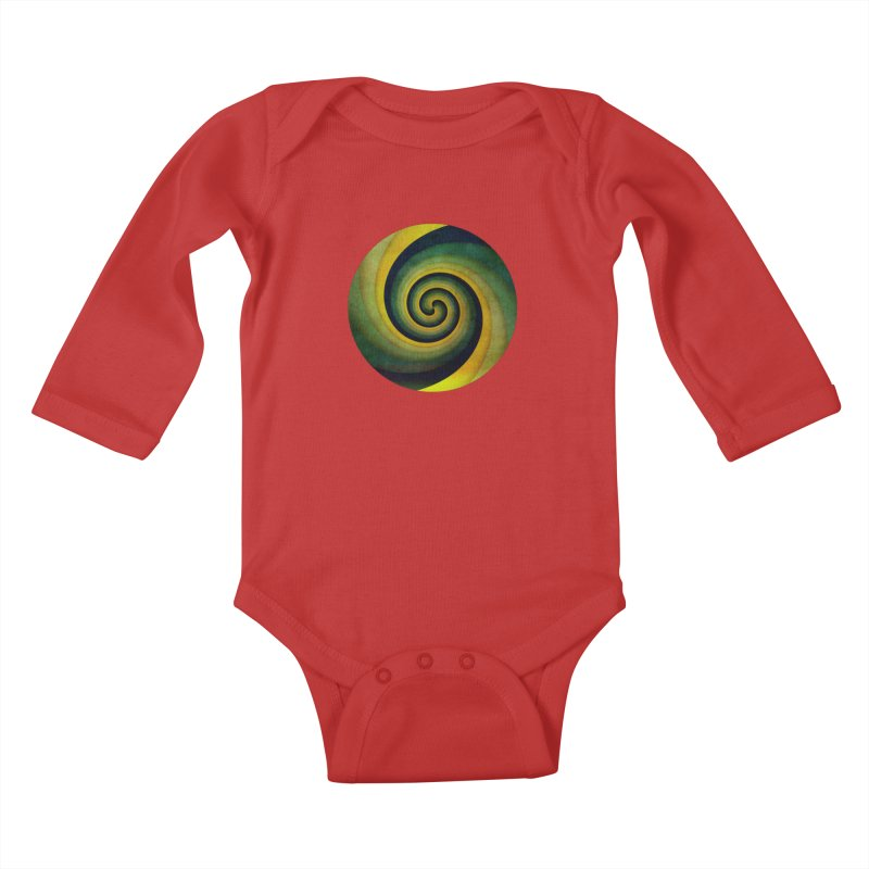 Green Swirl Kids Baby Longsleeve Bodysuit by fruityshapes's Shop