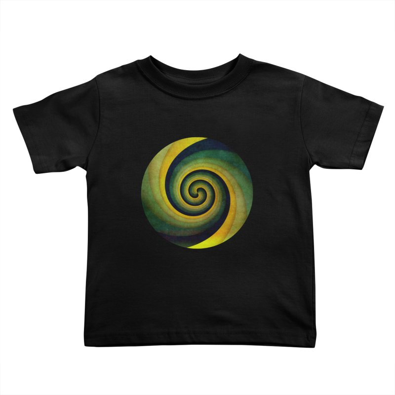 Green Swirl Kids Toddler T-Shirt by fruityshapes's Shop