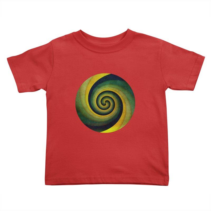 Green Swirl Kids Toddler T-Shirt by fruityshapes's Shop