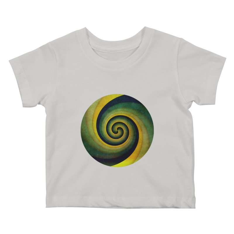 Green Swirl Kids Baby T-Shirt by fruityshapes's Shop