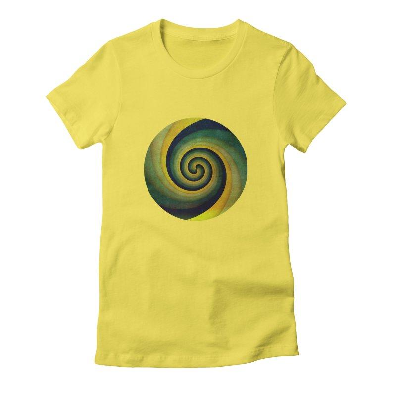 Green Swirl Women's T-Shirt by fruityshapes's Shop