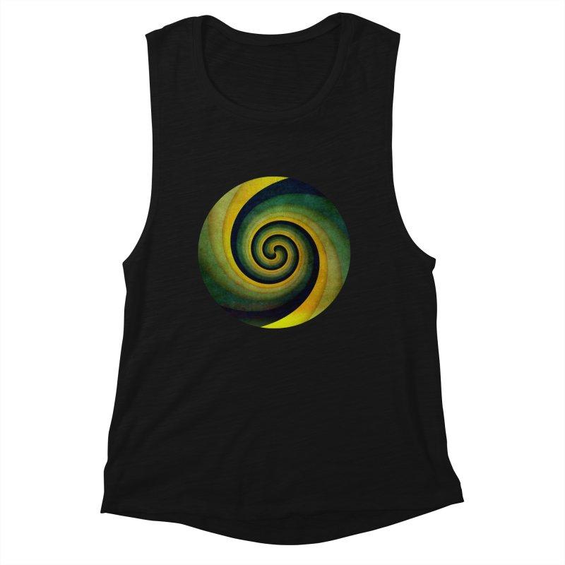 Green Swirl Women's Tank by fruityshapes's Shop