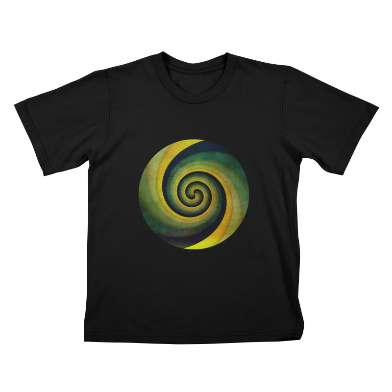 Green Swirl Kids T-Shirt by fruityshapes's Shop