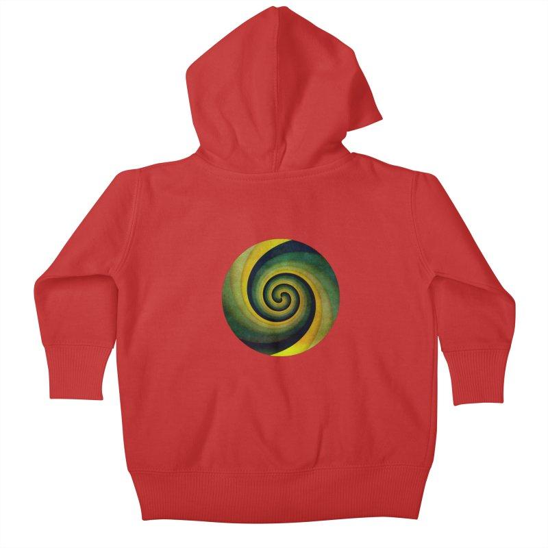 Green Swirl Kids Baby Zip-Up Hoody by fruityshapes's Shop