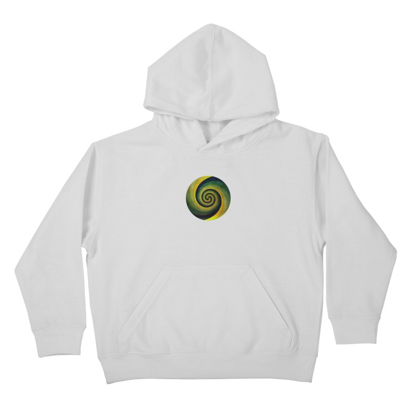Green Swirl Kids Pullover Hoody by fruityshapes's Shop