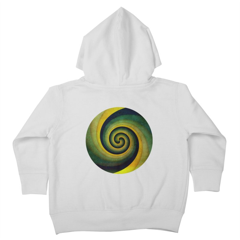 Green Swirl Kids Toddler Zip-Up Hoody by fruityshapes's Shop