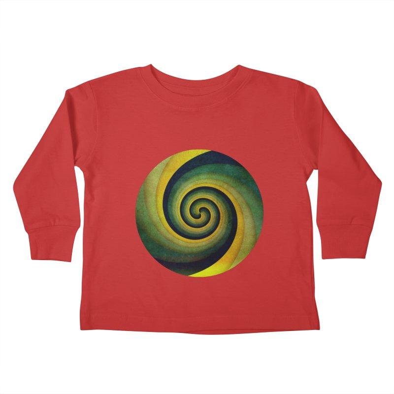 Green Swirl Kids Toddler Longsleeve T-Shirt by fruityshapes's Shop