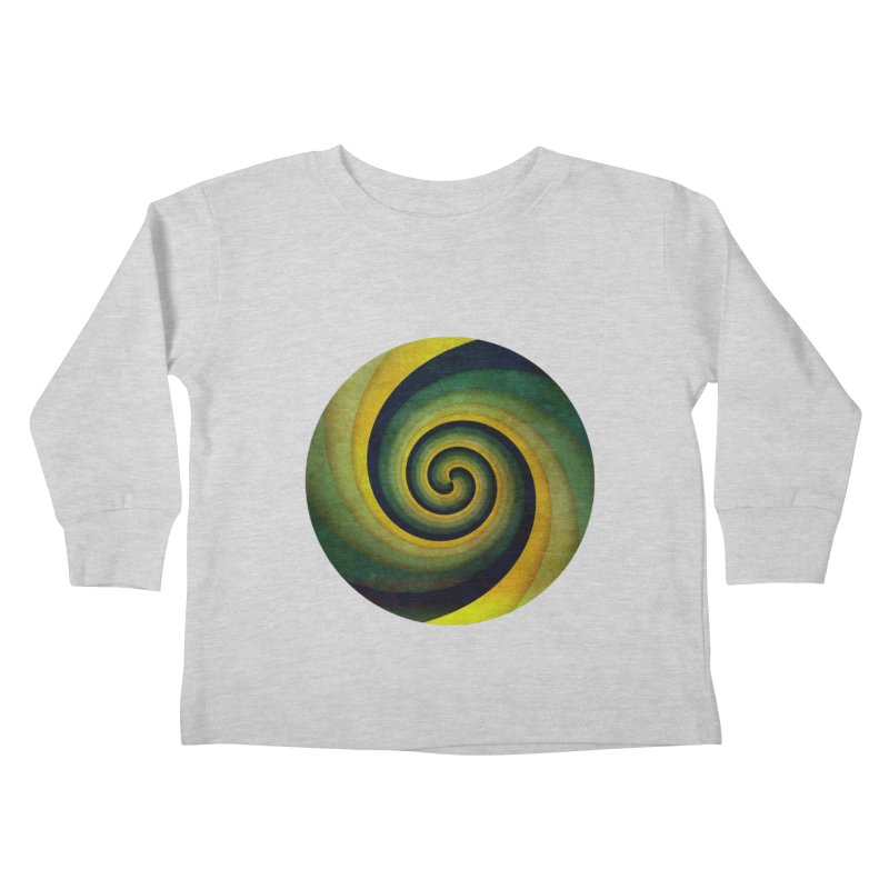 Green Swirl Kids Toddler Longsleeve T-Shirt by fruityshapes's Shop