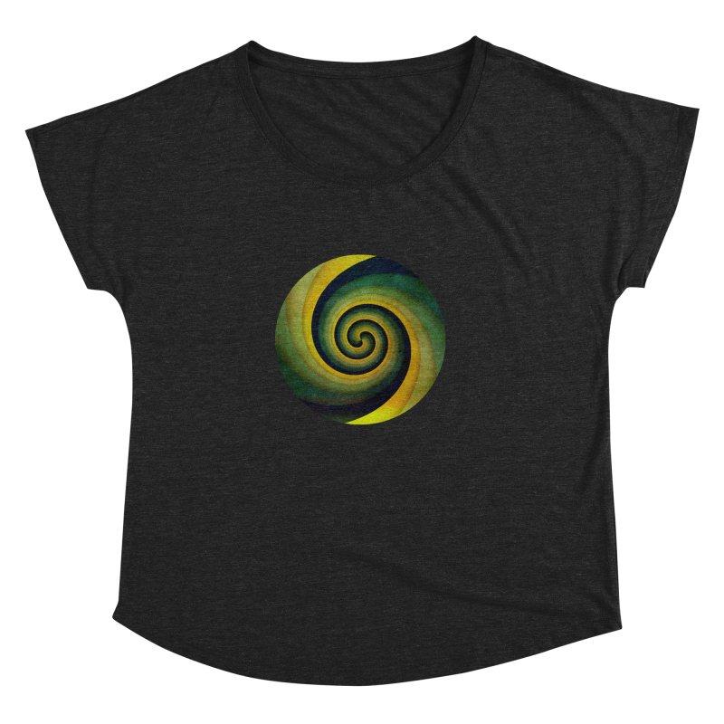 Green Swirl Women's Dolman Scoop Neck by fruityshapes's Shop
