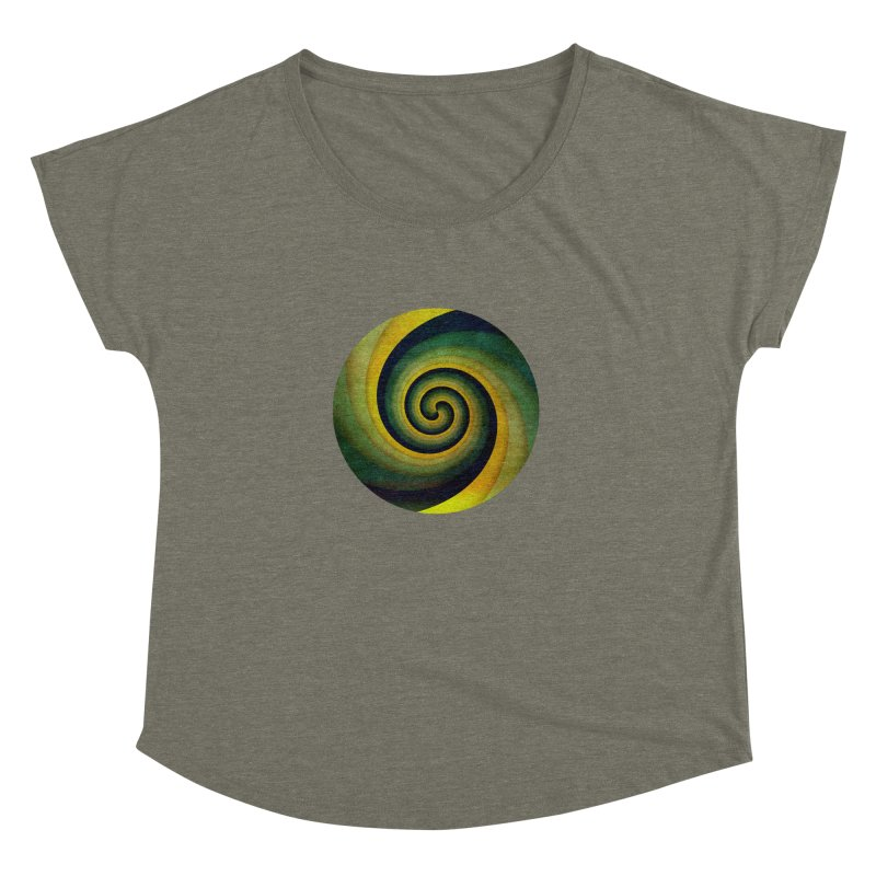 Green Swirl Women's Dolman Scoop Neck by fruityshapes's Shop