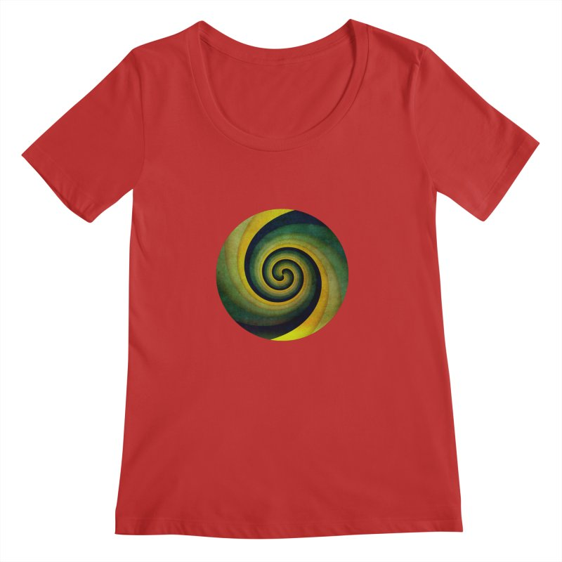 Green Swirl Women's Regular Scoop Neck by fruityshapes's Shop