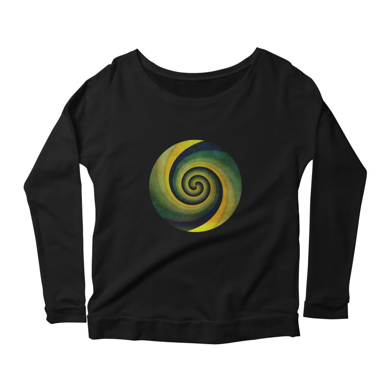Green Swirl Women's Scoop Neck Longsleeve T-Shirt by fruityshapes's Shop