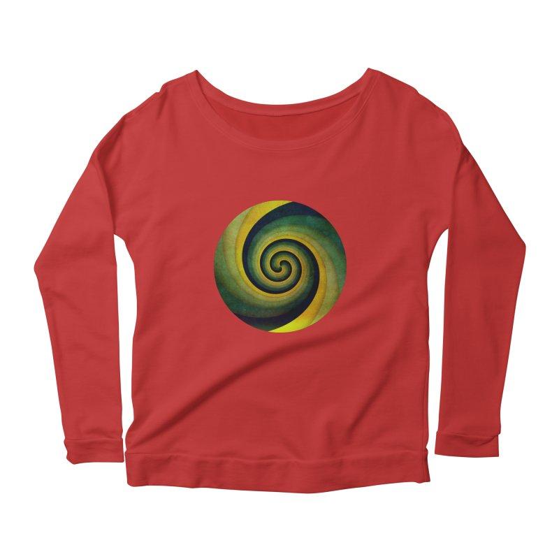 Green Swirl Women's Longsleeve Scoopneck  by fruityshapes's Shop