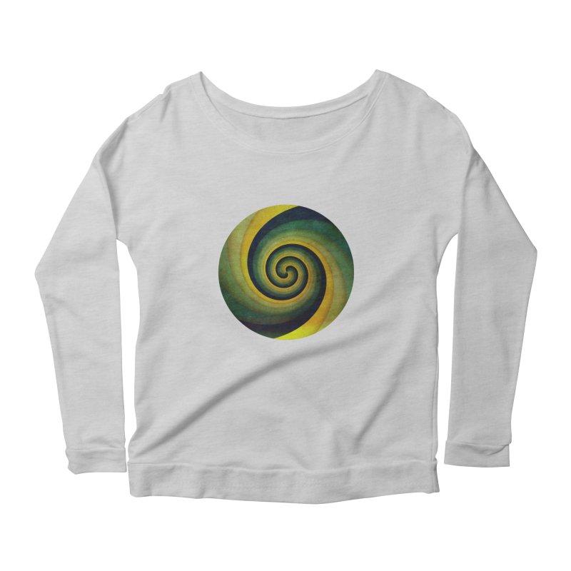 Green Swirl Women's Scoop Neck Longsleeve T-Shirt by fruityshapes's Shop