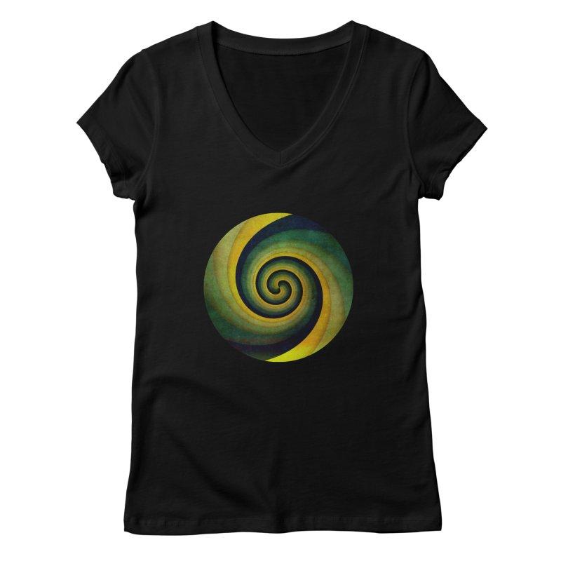 Green Swirl Women's Regular V-Neck by fruityshapes's Shop