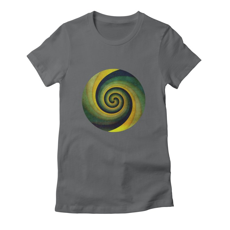 Green Swirl Women's Fitted T-Shirt by fruityshapes's Shop