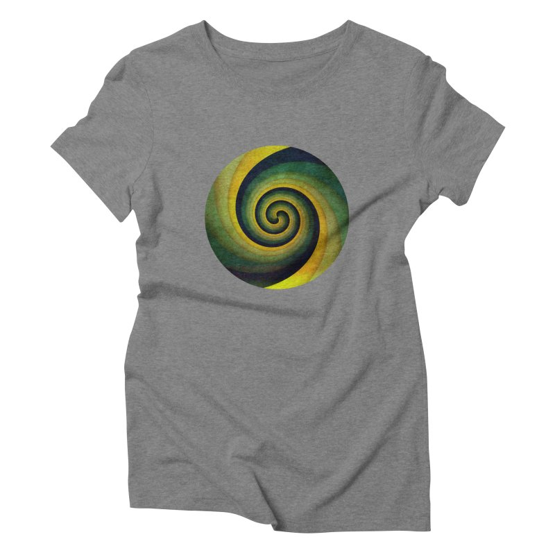 Green Swirl Women's Triblend T-Shirt by fruityshapes's Shop