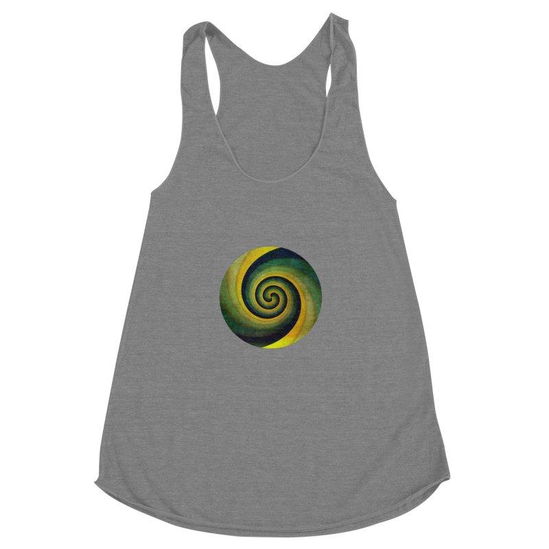 Green Swirl Women's Racerback Triblend Tank by fruityshapes's Shop