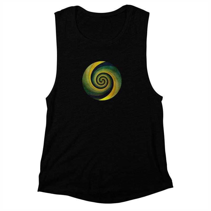 Green Swirl Women's Muscle Tank by fruityshapes's Shop