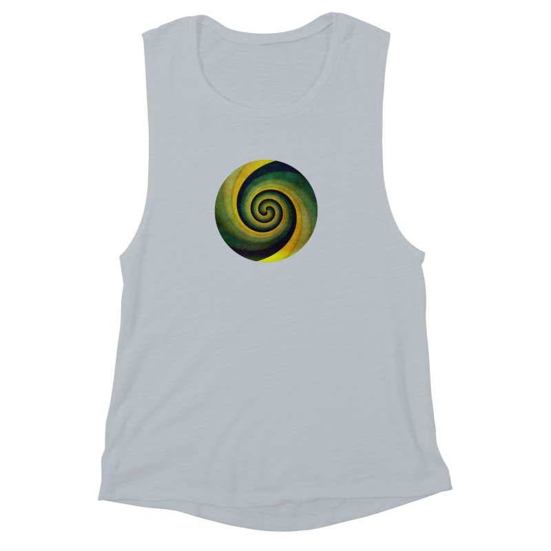 Green Swirl Women's Muscle Tank by fruityshapes's Shop