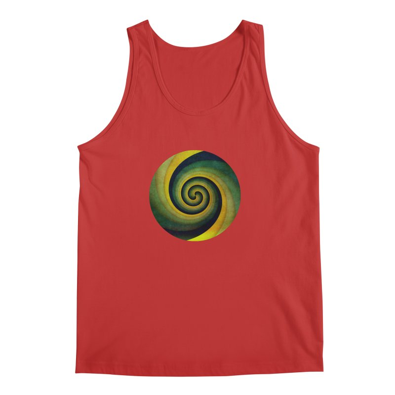 Green Swirl Men's Regular Tank by fruityshapes's Shop