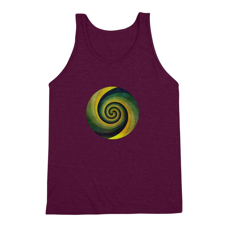 Green Swirl Men's Triblend Tank by fruityshapes's Shop