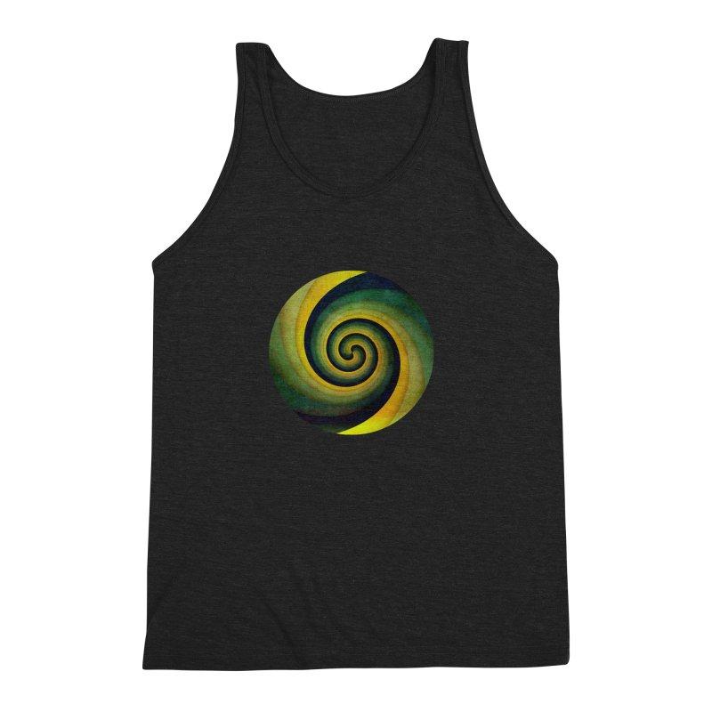 Green Swirl Men's Triblend Tank by fruityshapes's Shop