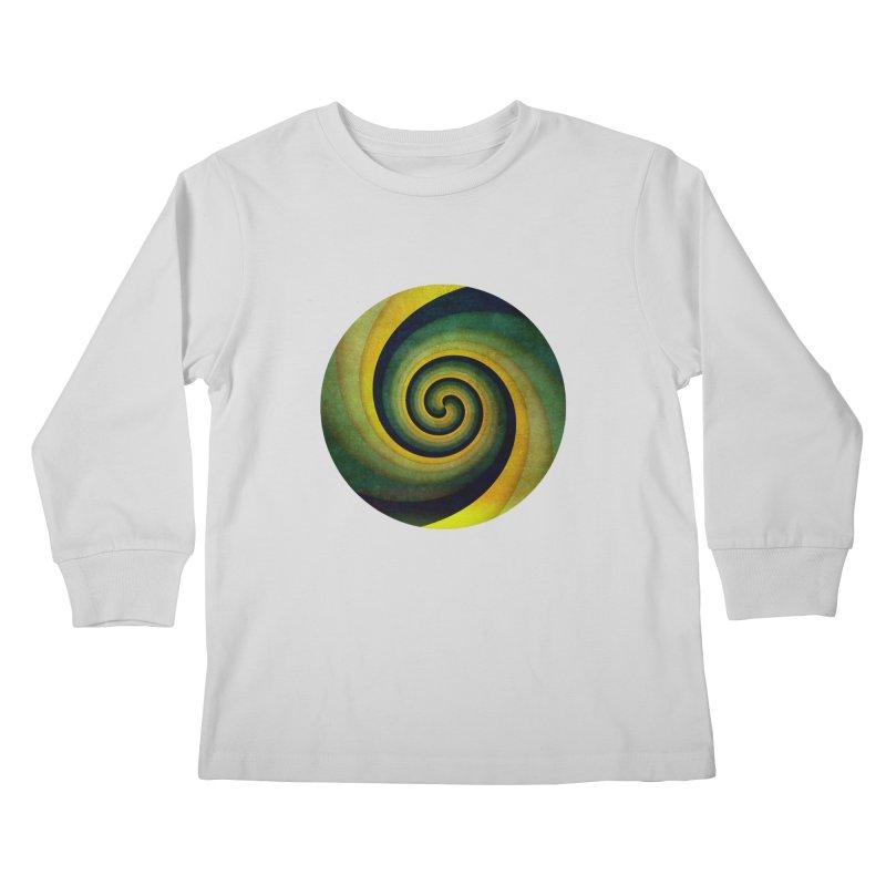 Green Swirl Kids Longsleeve T-Shirt by fruityshapes's Shop