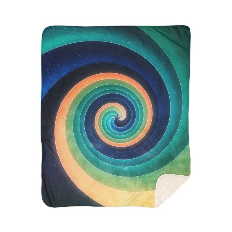 Abstract night swirl Home Sherpa Blanket Blanket by fruityshapes's Shop