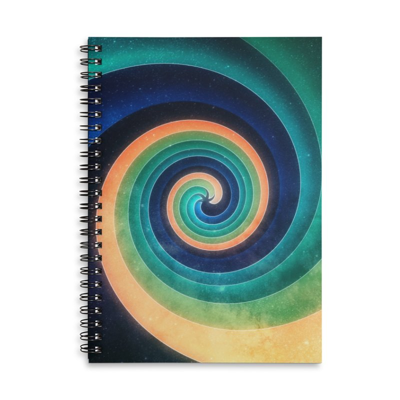 Abstract night swirl Accessories Lined Spiral Notebook by fruityshapes's Shop