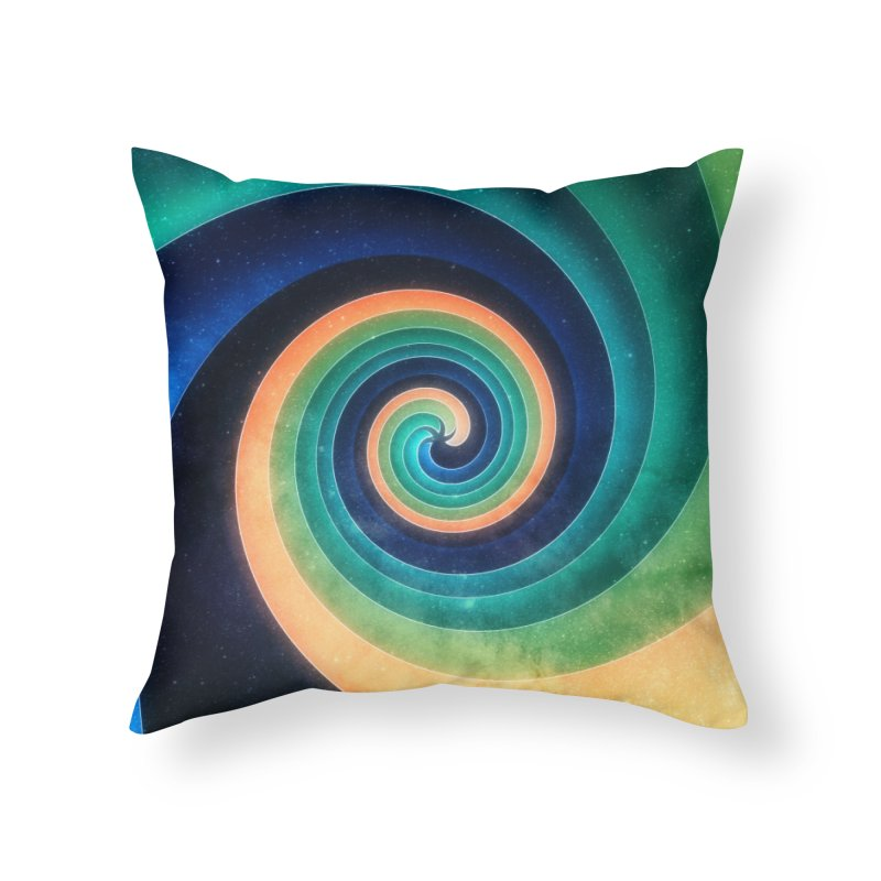Abstract night swirl Home Throw Pillow by fruityshapes's Shop