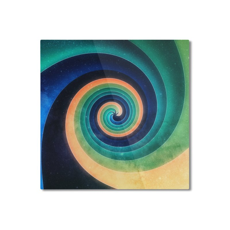 Abstract night swirl Home Mounted Aluminum Print by fruityshapes's Shop