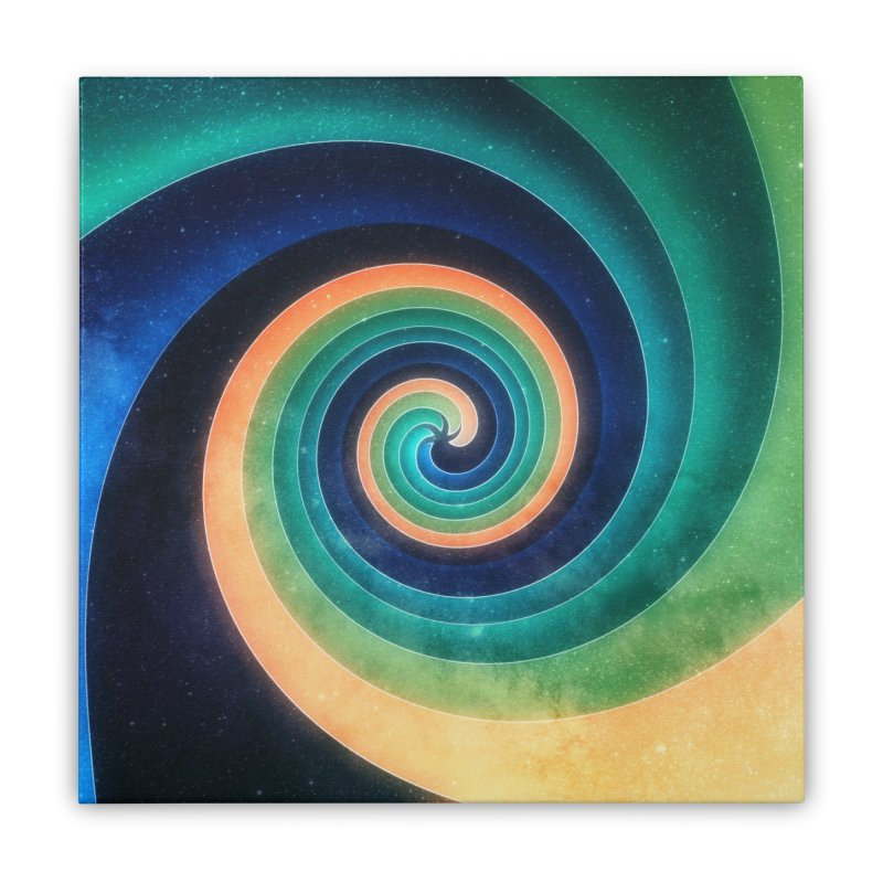 Abstract night swirl Home Stretched Canvas by fruityshapes's Shop
