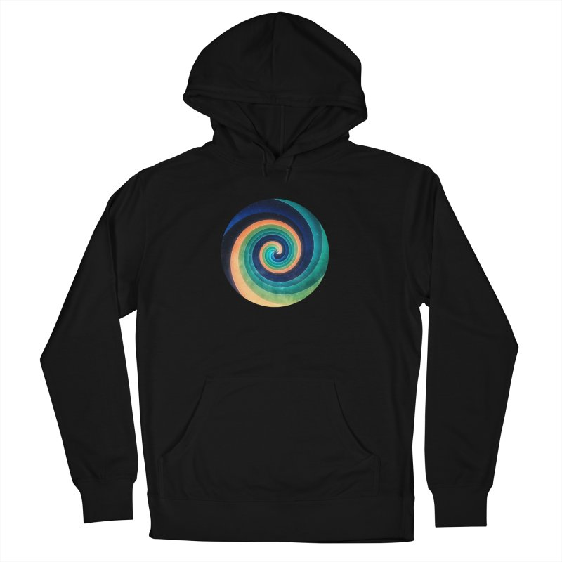 Abstract night swirl Men's French Terry Pullover Hoody by fruityshapes's Shop